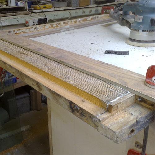 wooden frame restoration process