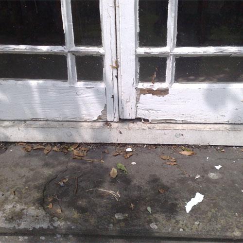 wooden doors restoration before